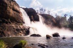 Падение воды Athirappilly стоковое фото rf