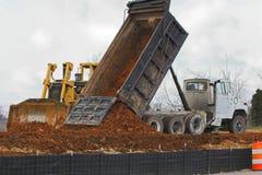 падение грязи больше Стоковое Изображение RF