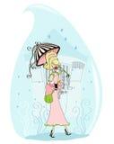 Падение дождя Стоковое Фото