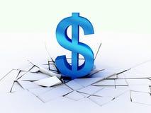 падение доллара валюты Стоковые Изображения