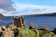 Падение/зима руин замка Urquhart Стоковое Фото
