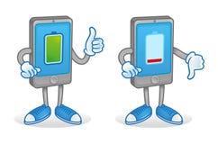 Падение и низкая батарея на smartphone бесплатная иллюстрация