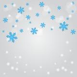 Падение снежка. Абстрактная предпосылка зимы. Стоковое Изображение RF