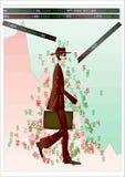 падение финансовохозяйственное Стоковая Фотография