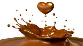 Падение шоколада в форме сердца бесплатная иллюстрация