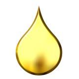 падение 3d золотистое Стоковое Изображение RF
