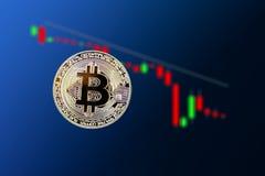 Падение bitcoin вниз стоковые изображения