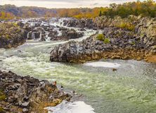 7 падений парк штата, DC Вашингтона, Вирджиния, VA стоковая фотография rf