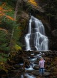 Падения Глен мха, вариант Вермонта Granville стоковые изображения