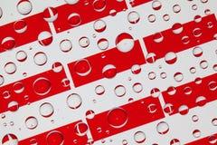 Падения дождя вполне флагов Индонезии Стоковое Изображение RF