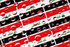 Падения дождя вполне флагов Ирака Стоковые Изображения RF