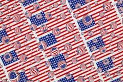 Падения дождя вполне флагов США Стоковое фото RF