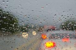 Падения дождя в движении Стоковые Изображения RF