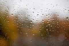 Падения дождя на окне Стоковая Фотография