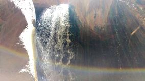 Падения заводи Kanarra с радугой стоковые изображения