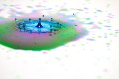 Падения краски и выплеск кроны стоковое фото rf