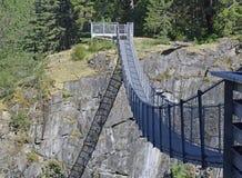 Падения лося висячего моста металла, река Campbell стоковая фотография rf