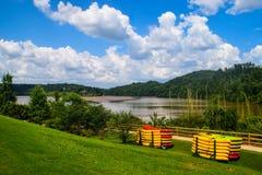 Падения Моргана обозревают парк, Sandy Springs, Georgia стоковое фото