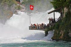 падения около rhein schaffhausen Швейцария Стоковые Изображения RF