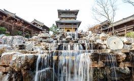 Падения Солт-Лейк-Сити горы копья Цзянсу Jintan сценарные Стоковое Изображение