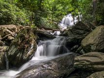 Падения Catawba в национальный лес Pisgah стоковые изображения rf