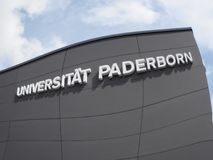 Падерборн, northrine Вестфалия, Германия, 10 05 201, университет Падерборна, стоковые фотографии rf