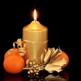 падуб плодоовощ рождества свечки Стоковое фото RF