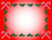 падуб рамки тросточки конфеты Стоковое Изображение RF