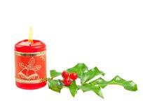 падуб рождества свечки стоковое фото rf