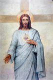 ПАДУЯ, ИТАЛИЯ - 8-ОЕ СЕНТЯБРЯ 2014: Сердце краски Иисуса Христоса в соборе Santa Maria Assunta (Duomo) Стоковое Изображение RF