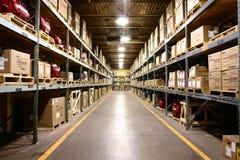 пакгауз взгляда фабрики угла широко Стоковое Изображение
