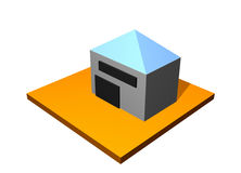 пакгауз хранения здания иллюстрация вектора