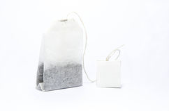 Пакетик чая изолированный в белизне Стоковое фото RF