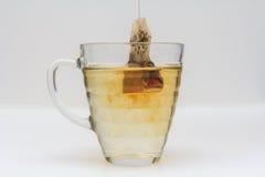 Пакетик чая окунул в стекло чая Стоковое Изображение RF