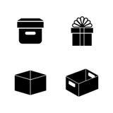 Пакеты бумажного ремесла Простые родственные значки вектора иллюстрация штока