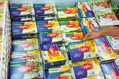 Пакеты еды в замораживателе Стоковое Изображение RF