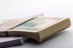 Пакеты долларов и евро Стоковая Фотография RF