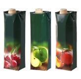 Пакеты соков с завинчивой пробкой Стоковые Фотографии RF