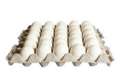 Пакет белых яичек изолированный на белой предпосылке Стоковое фото RF