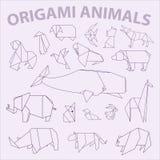 Пакет большого origami животный Стоковое Изображение