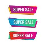 Пакет вектора коммерции продажи e знамени супер иллюстрация вектора