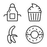 Пакет вектора кухни и еды иллюстрация вектора