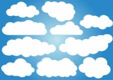 Пакет вектора облаков Стоковое Изображение