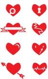 Пакет вектора сердец Стоковое Изображение RF