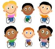 Пакет вектора характера детей кресло-коляскы Стоковое Фото