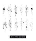 Пакет высококачественных геометрических элементов Стоковые Фото