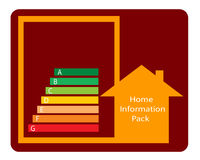 пакет данным по эмблемы домашний Стоковое Фото