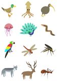 Пакет 3 животных Стоковые Изображения RF