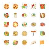Пакет значка блюда плоский бесплатная иллюстрация