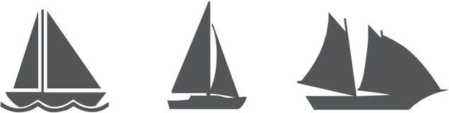Пакет значка парусника - вектор Стоковая Фотография RF